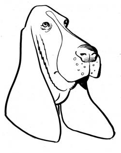 Hound clipart black and white