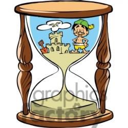 Hourglass clipart cartoon