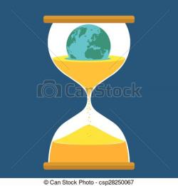 Hourglass clipart earth