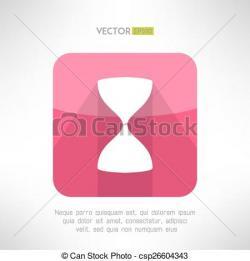 Hourglass clipart modern