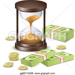 Hourglass clipart money