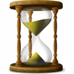 Hourglass clipart old