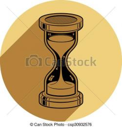 Hourglass clipart out time