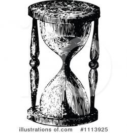 Hourglass clipart vintage