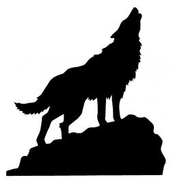 Coyote clipart howling