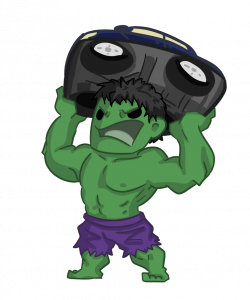 Hulk clipart cartoon cute