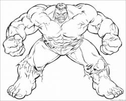 Hulk clipart colouring page