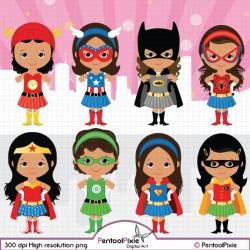 Super Girl clipart cute person