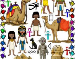Sphynx clipart egyptian person