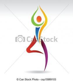Meditation clipart logo