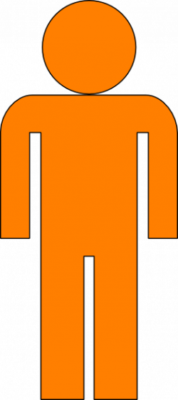 Human clipart orange