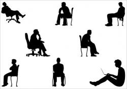 Human clipart sitting