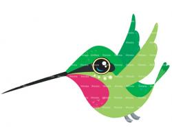 Cute clipart hummingbird