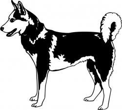 Akita clipart husky dog