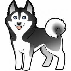 Drawn husky cartoon