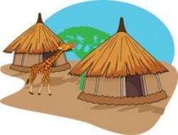 Hut clipart african art