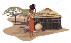 Hut clipart african village