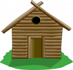 Shack clipart straw house