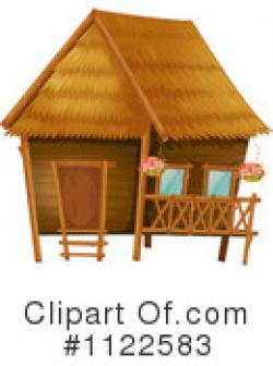Cottage clipart bamboo hut