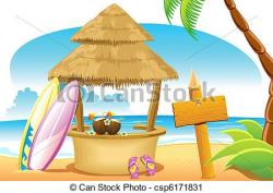 Hut clipart beach shack