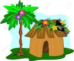 Hut clipart grass hut