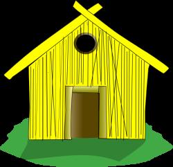 Hut clipart hay