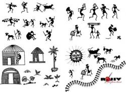 Hut clipart indian villager