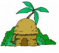 Hut clipart jungle hut
