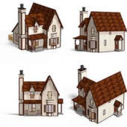 Hut clipart medieval house