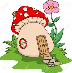 Hut clipart mushroom