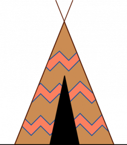 Native American clipart teepee tent