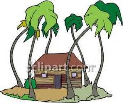 Hut clipart palm