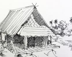 Hut clipart pencil drawing