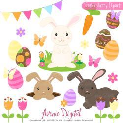Cuddling clipart spring bunny