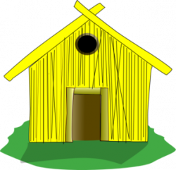 Hut clipart straw house