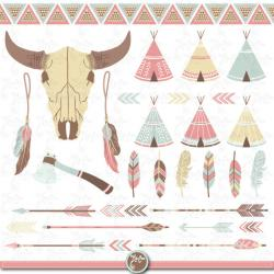 Indians clipart teepee tent