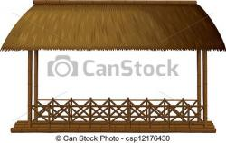 Hut clipart thatched