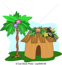 Tropics clipart beach hut