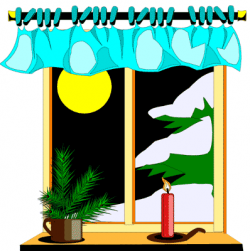 See clipart outside window