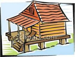 Shack clipart wooden