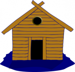 Hut clipart wood house