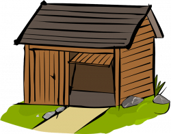 Hut clipart wooden house