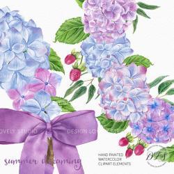 Hydrangea clipart lavender flower