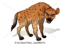 Drawn hyena clipart