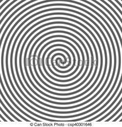 Hypnotic clipart illusion