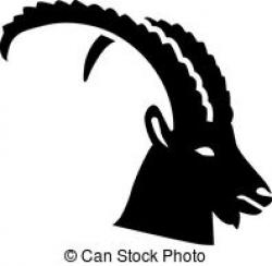 Ibex clipart black and white