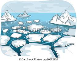 Glacier clipart cartoon