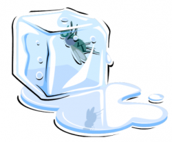Ice Cube clipart melted