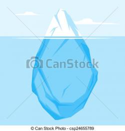 Iceberg clipart drawing