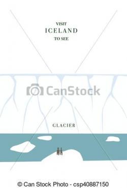 Iceberg clipart flat design